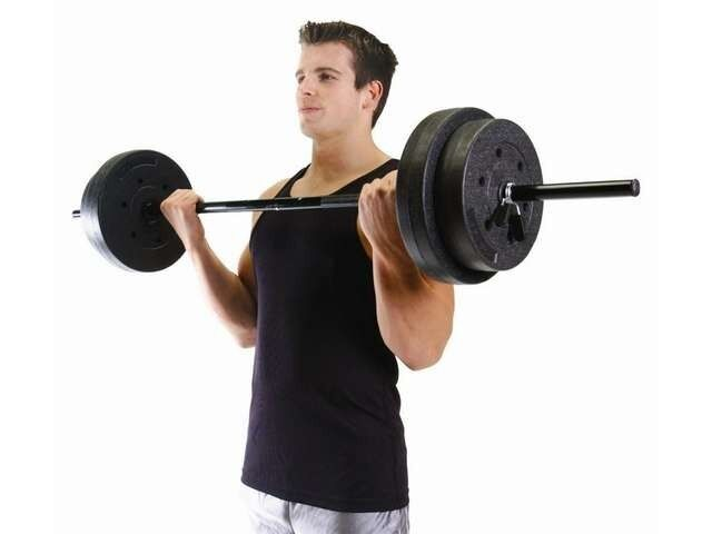 Gym weights set lbs lifting barbell exercise workout