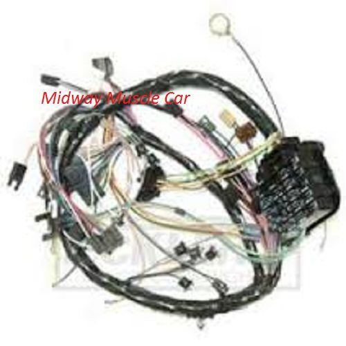 dash wiring harness 69 chevy chevelle 350 327 307 396 427 malibu ss w gauges ebay