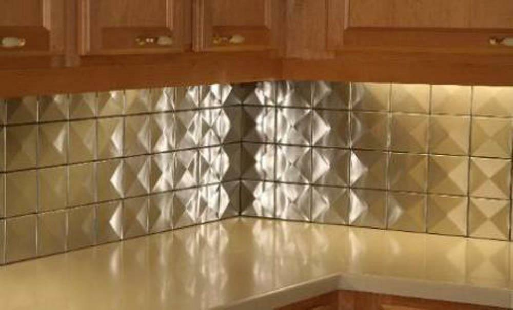 5sf 4 x4 3d stainless steel metal backsplash wall tiles for 3d outdoor wall tiles