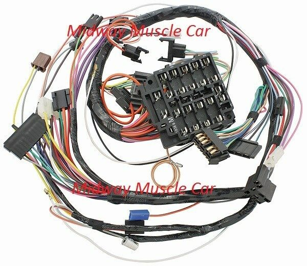 Dash Wiring Harness 69 Pontiac Gto Lemans Tempest Judge