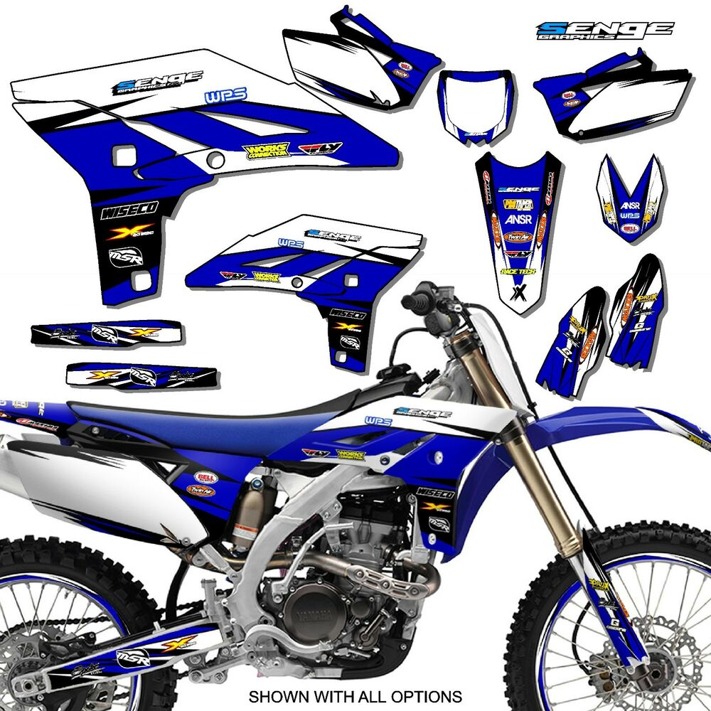 2007 2008 2009 2010 2011 wr 450f graphics kit yamaha for Sticker deco