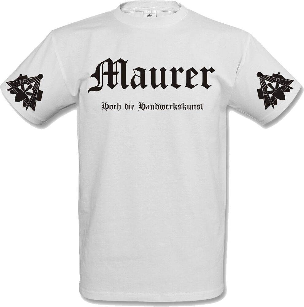 t shirt maurer handwerk handwerker bau zunftwappen ebay. Black Bedroom Furniture Sets. Home Design Ideas