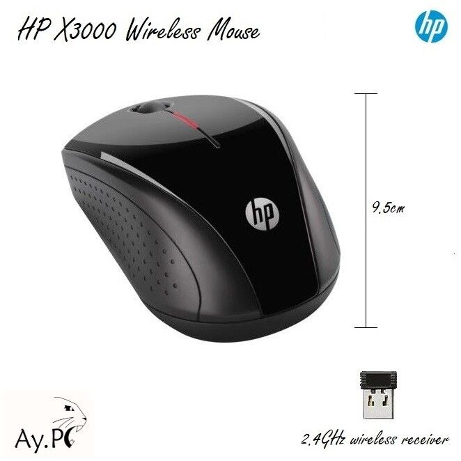 HP X3000 Optical Wireless Mouse for Laptops and Desktop PC ...
