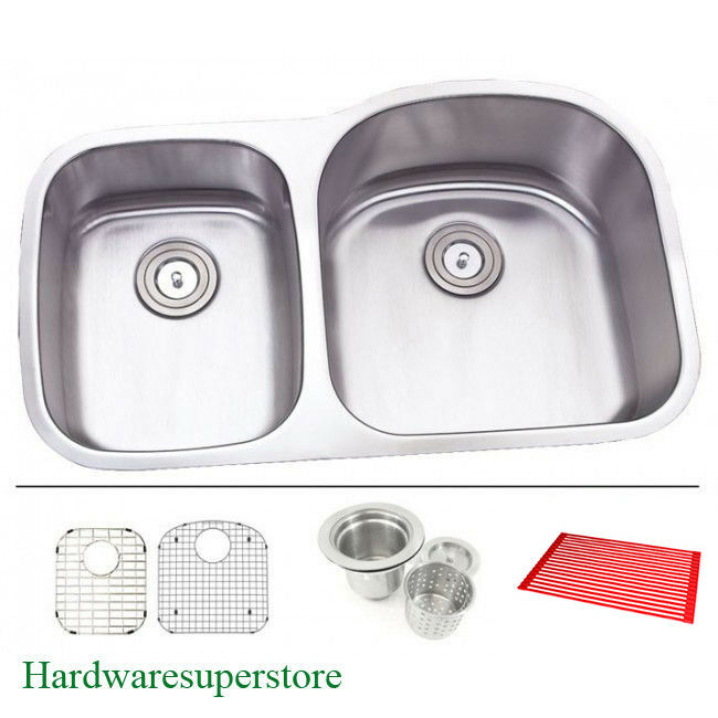 30 inch double bowl kitchen sink 31 1 2 quot 16 bowl 30 70 undermount stainless 8982