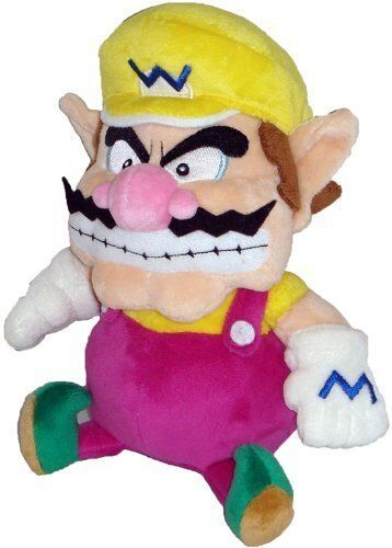 "Super Mario Plush-7"" Wario Soft Stuffed Plush Toy 