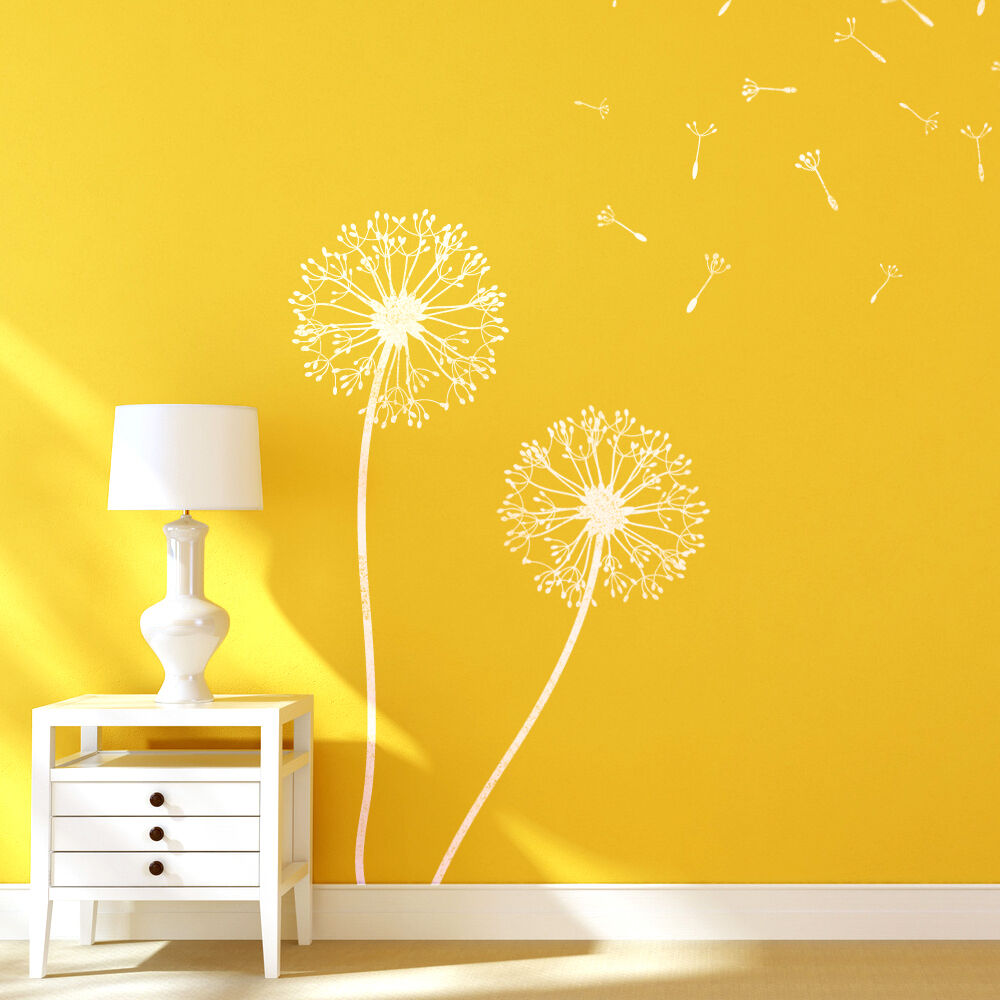 Dandelion Flower Stencils for Wall art DIY decor just like Wallpaper 888426004587 | eBay