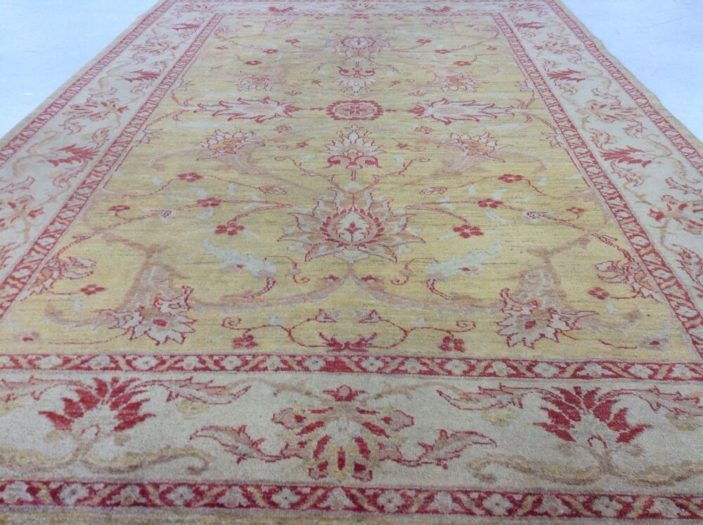 6 X 9 Gold Beige Red Gray Persian Oriental Area Rug New