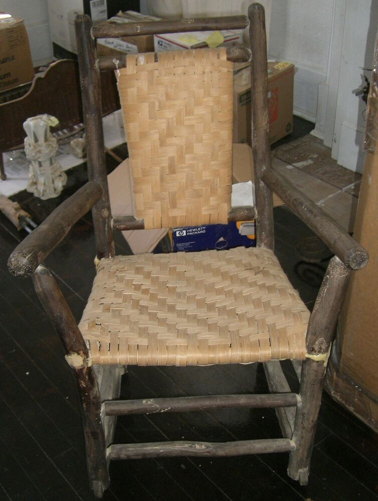 antique porch rocking chair hickory rocker shaker style caned