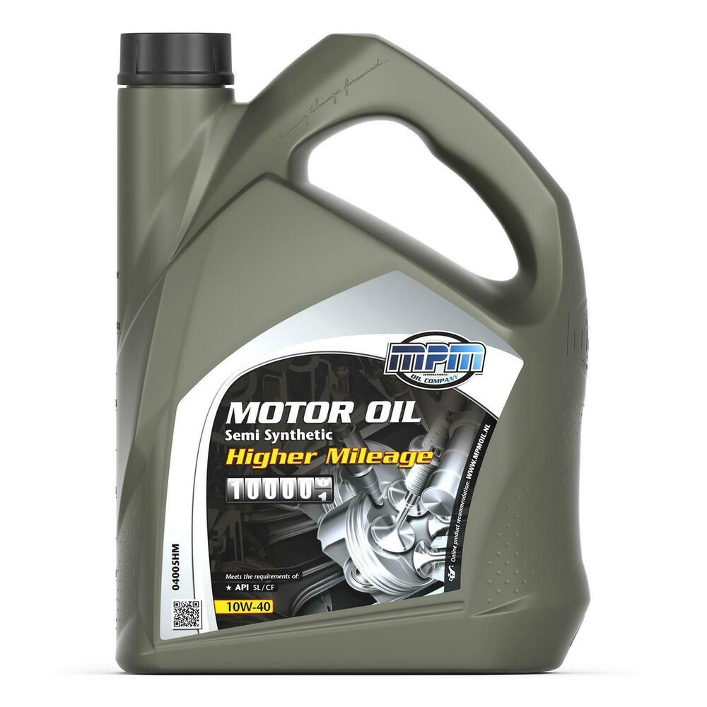 Mpm engine oil 10w40 semi synthetic higher mileage 5l 5 for What is synthetic motor oil