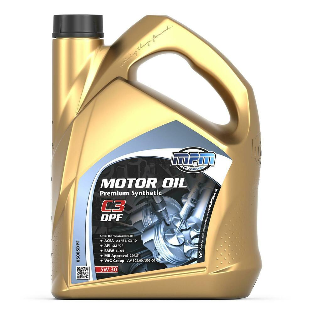 Mpm premium engine oil 5w30 fully synthetic c3 dpf 5l for Mercedes benz synthetic oil