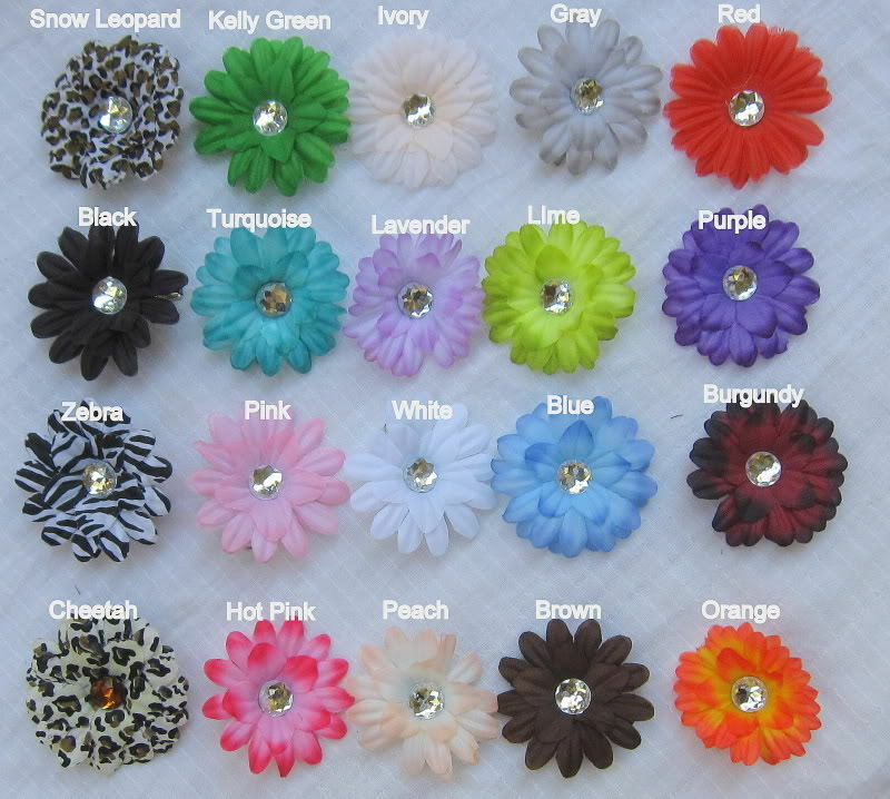 12 small crystal daisy flower head wholesale wedding for Flower heads for crafts