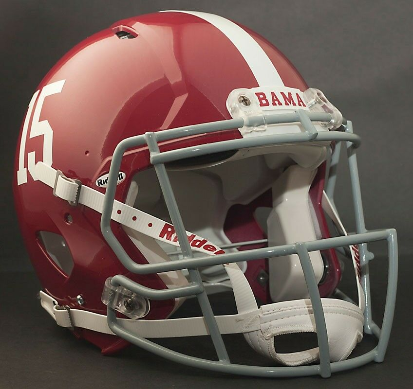 Football Helmet Vinyl Wraps : Alabama crimson tide mini football helmet nameplate