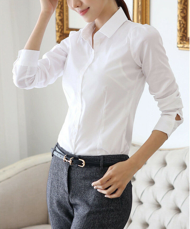 2014 new womens fashion blouse long sleeve casual tops
