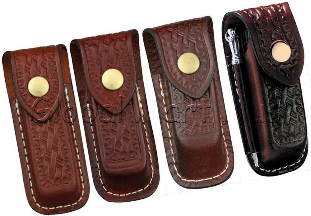 Pocket Knife Multi Purpose Tool Sheath Pouch Case Leather