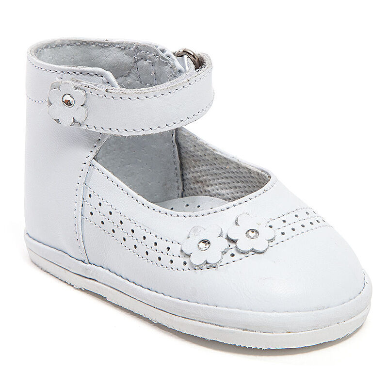 Baby Girl White Leather High Top shoes with Hook & : Size ...