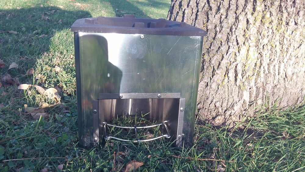 Envirofit z 3000 built in rocket stove ebay for How to make a rocket stove with bricks