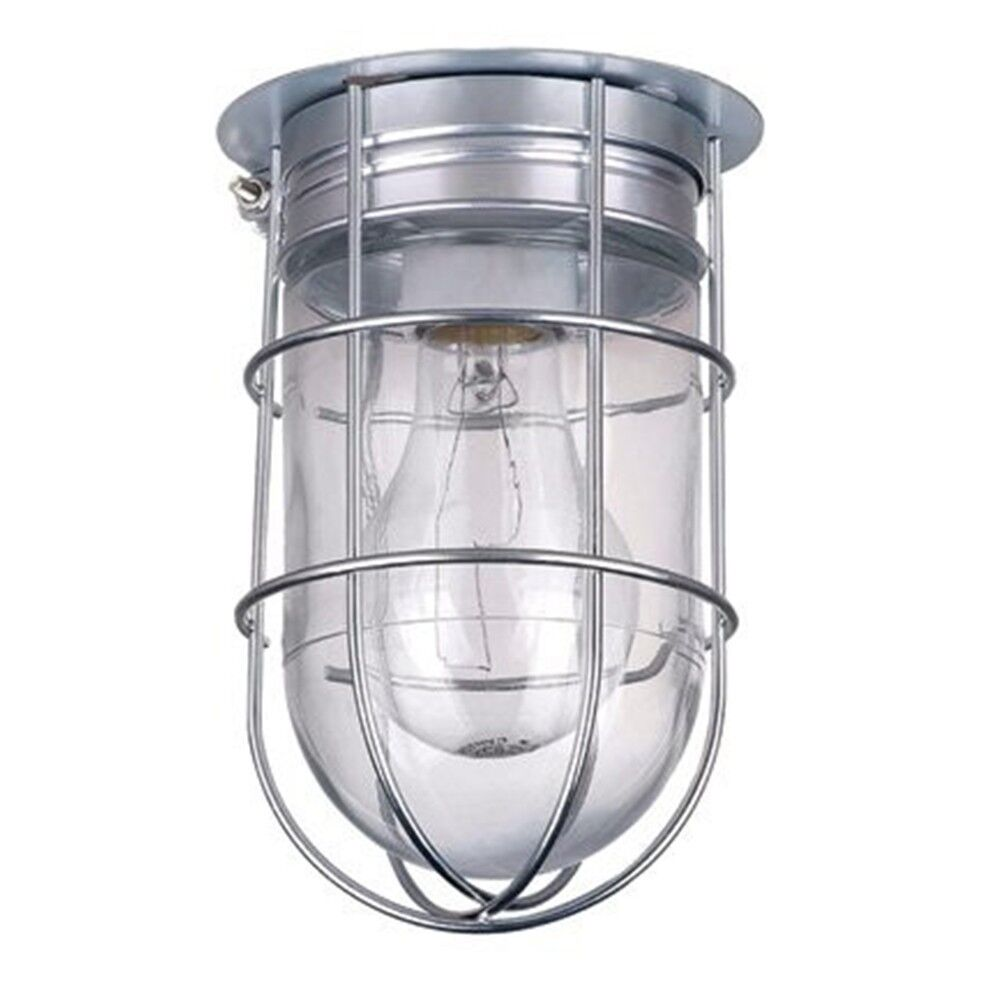 All Weather Wall Barn Ceiling Exterior Light With Cage