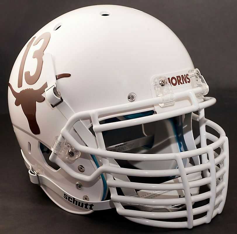 Football Helmet Grill : Custom texas longhorns schutt air xp replica football