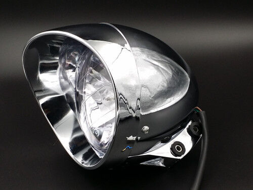 Custom Chopper Headlights : Quot motorcycle chrome big bullet headlight for harley