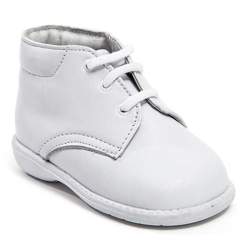 Baby Boy White Leather High Top shoes with Laces: Size 3 ...