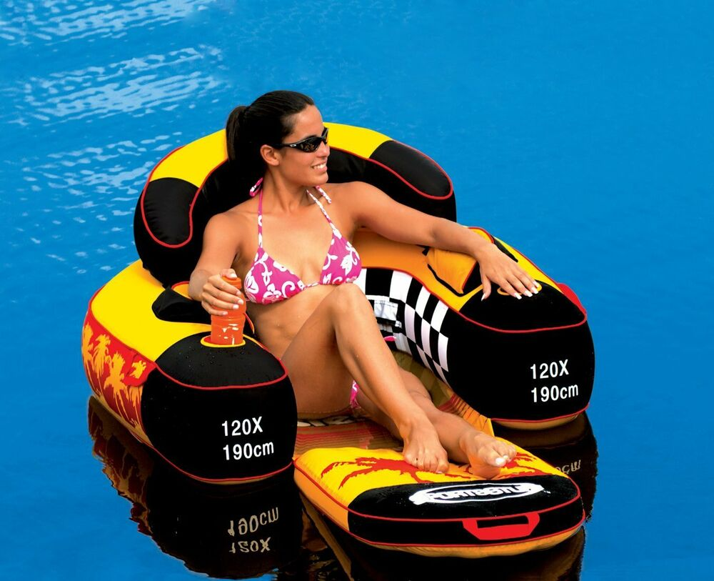 River Rafting Float Lake Pool Tube Inflatable Lounge Chair