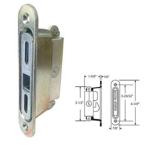 Slide Lock For Glass Door: STB Sliding Glass Patio Door Lock, Mortise Type, 3-11/16