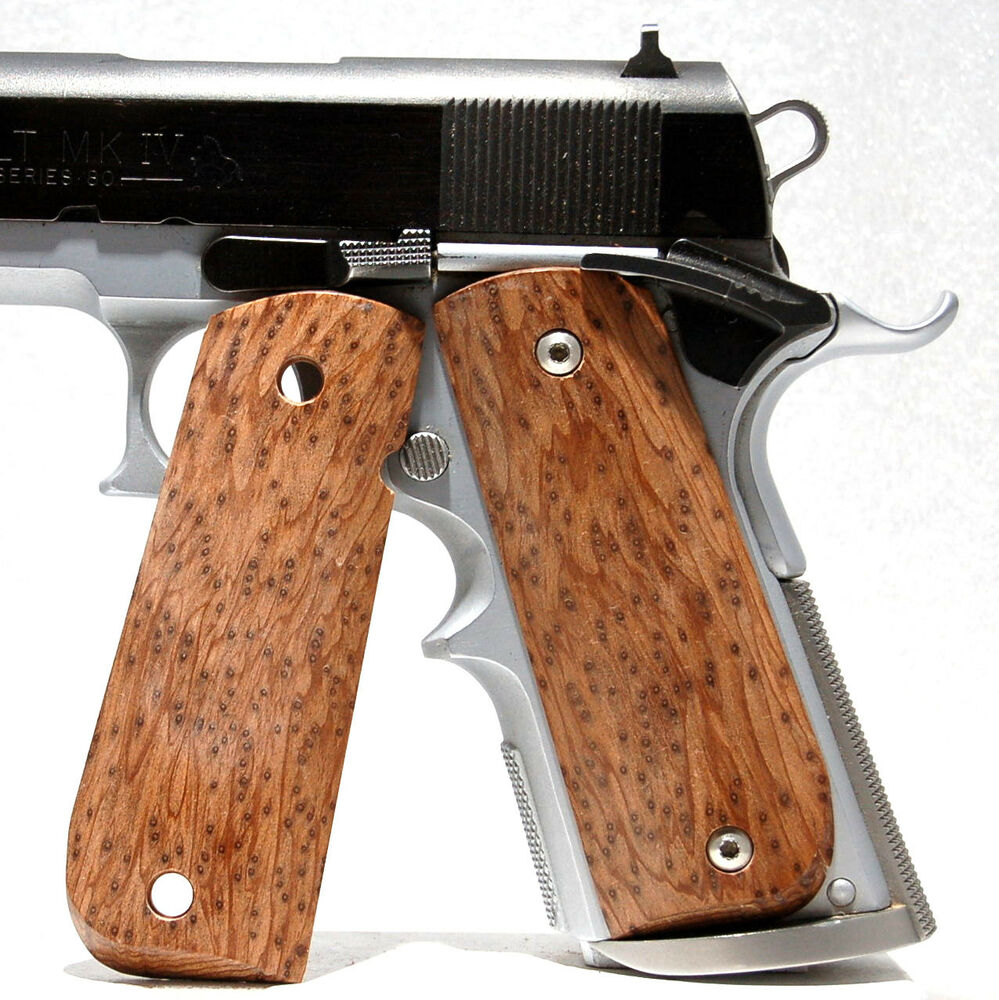 Gun Pistol Grips 1911 Full Size Stabilized Wood Maple