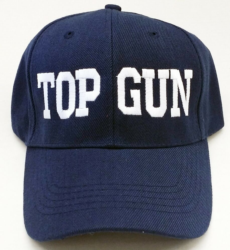 Top Gun Hat TOP GUN TEXT MI...