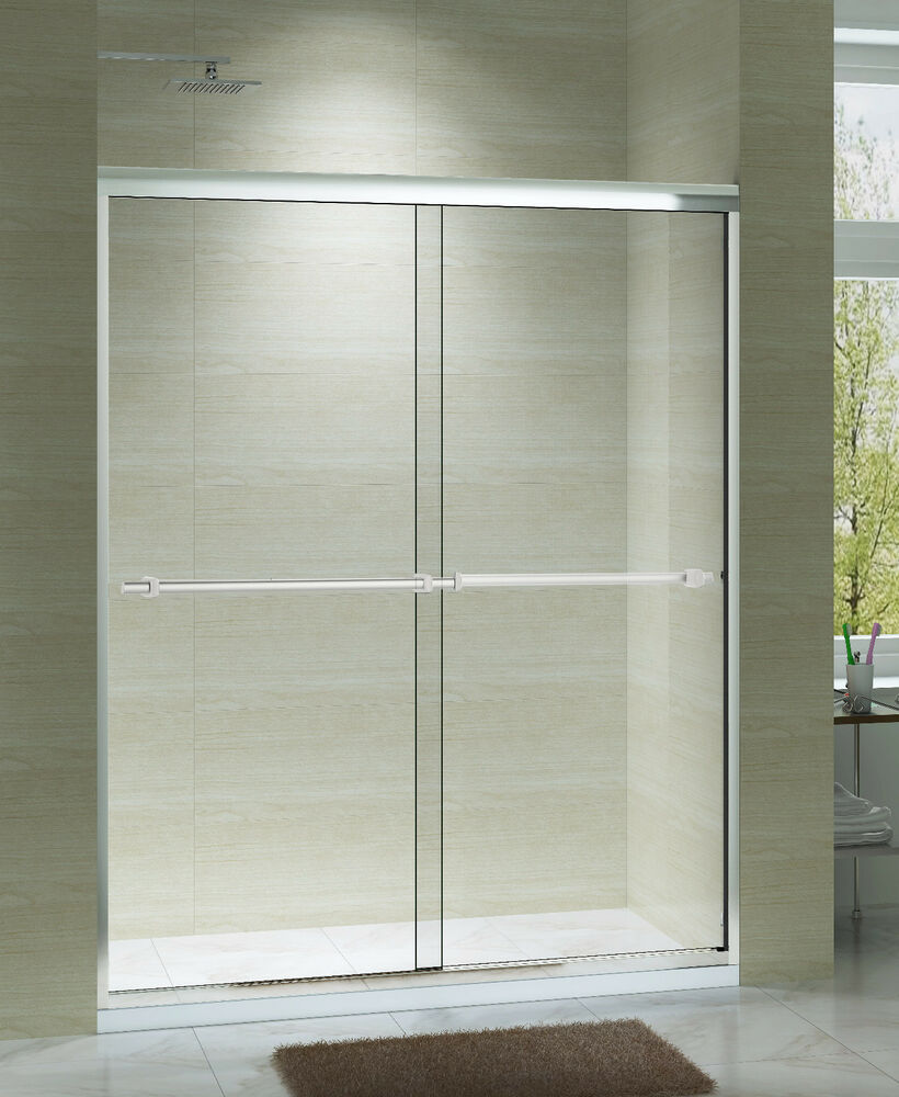 Art of bath 44 48 x 75 semi frameless sliding shower for 12x48 window