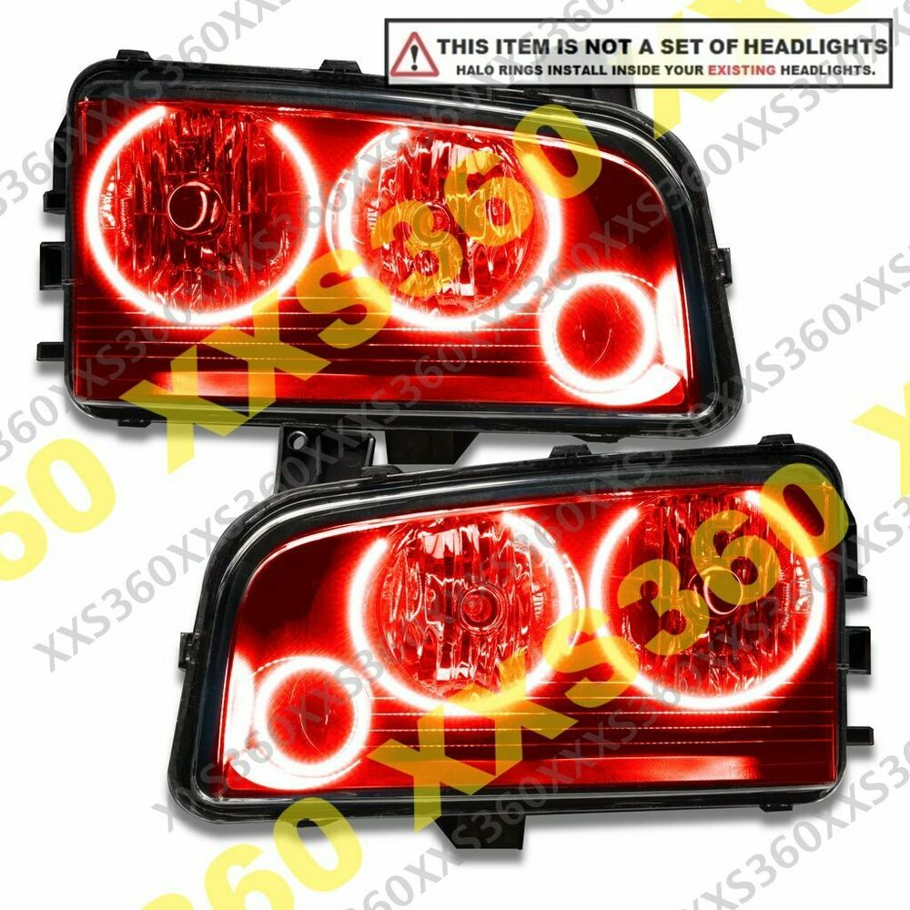 ORACLE Dodge Charger 2005 2010 RED TRIPLE LED Headlight