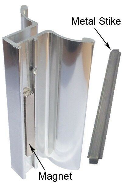Chrome Frameless Shower Door Handle With Magnet And
