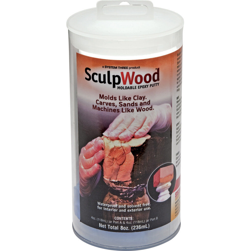 Sculpwood moldable epoxy putty 8 oz ebay for Wood floor epoxy filler
