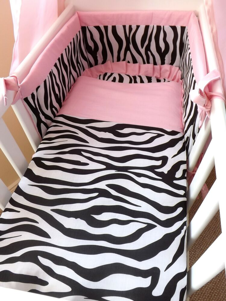 Zebra Baby Bedroom Sets: NEW CRIB , CRADLE BEDDING SET, Zebra Style , FOR A BABY