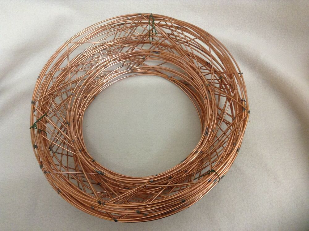 "10"" RAISED wire wreath round rings RAISED holly mossing ..."
