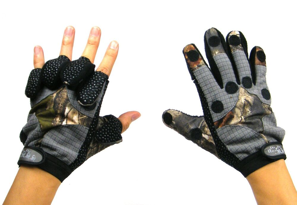 New 2014 winter gloves warm black camo camouflage fishing for Winter fishing gloves