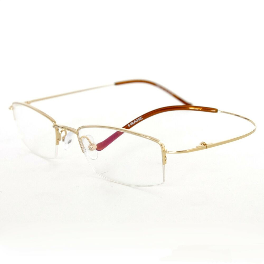 memory titanium flex half optical eyeglass