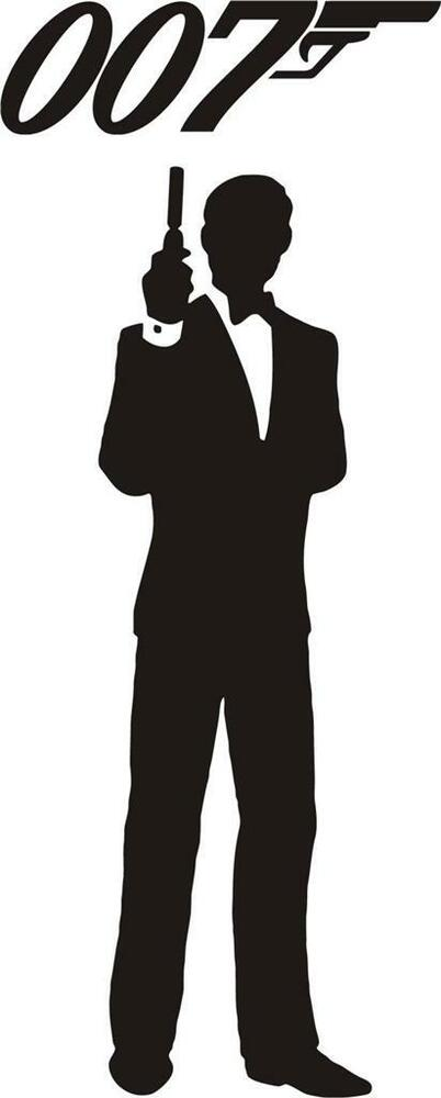 James Bond 007 Decal Wall Sticker Silhouette Home Decor