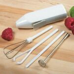 Norpro 5pc Deluxe Cordless Mini Mixer - Mix Whip Stir Blend Beat Drink Frother