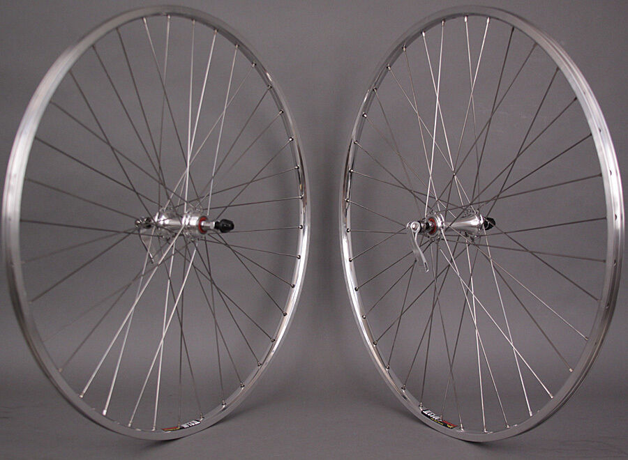 sun m13 silver 700c sealed bearing road bike wheels 126mm