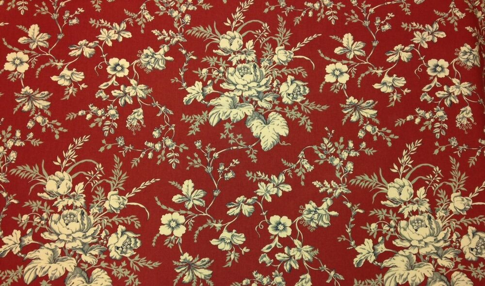 golding kingsport tomato red floral toile multiuse fabric by the yard 54 w ebay. Black Bedroom Furniture Sets. Home Design Ideas