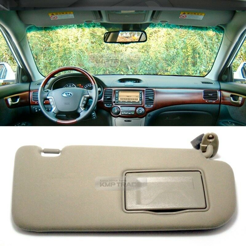 oem interior hand sun visor shade guard rh beige for kia 2006 10 optima magentis ebay. Black Bedroom Furniture Sets. Home Design Ideas
