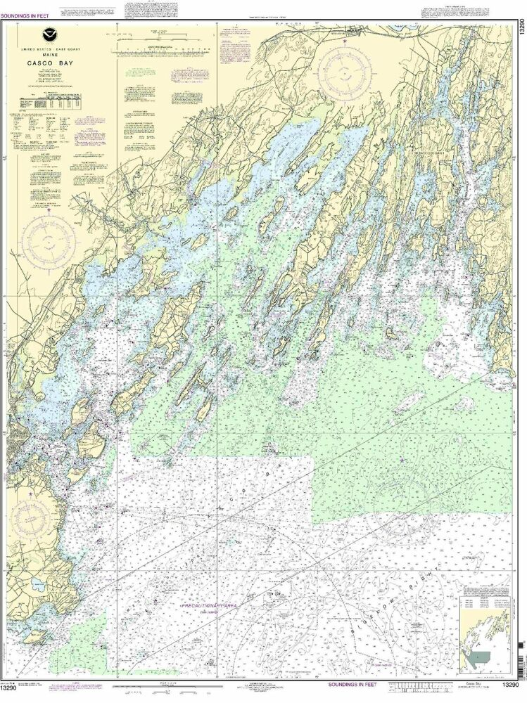Offer Up San Diego >> NOAA Chart Casco Bay 39th Edition 13290 | eBay