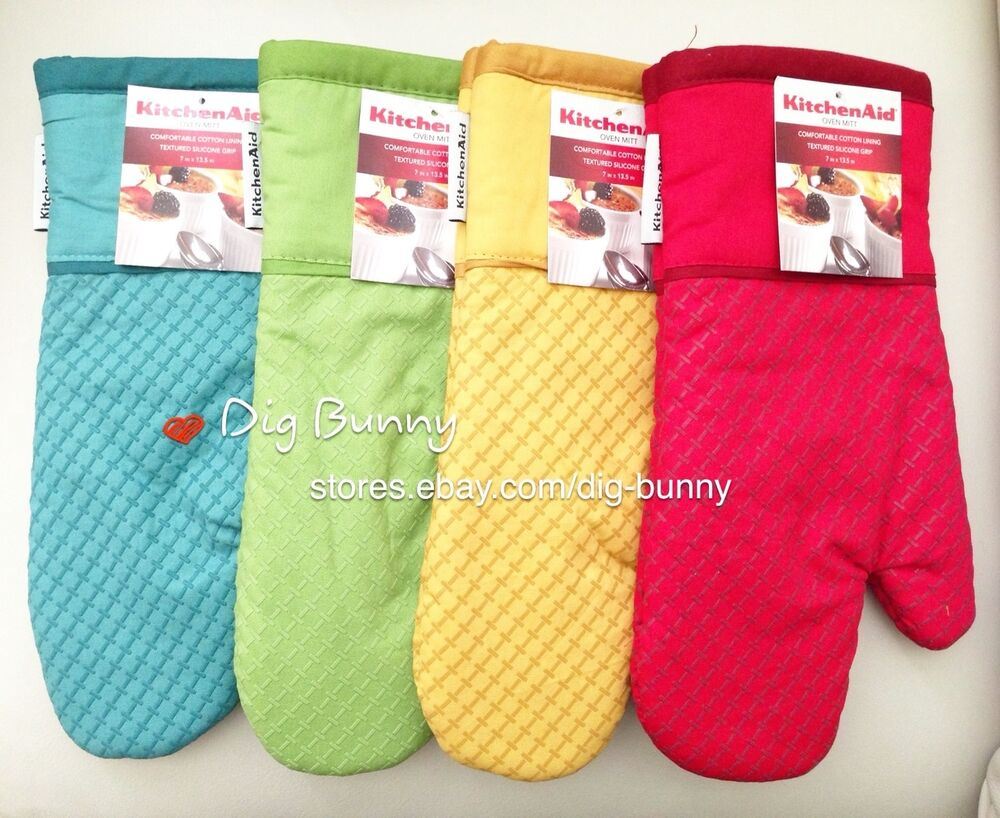 Kitchenaid oven mitt with textured silicone grip 7 x 13 5 more colors added ebay - Kitchenaid oven gloves ...