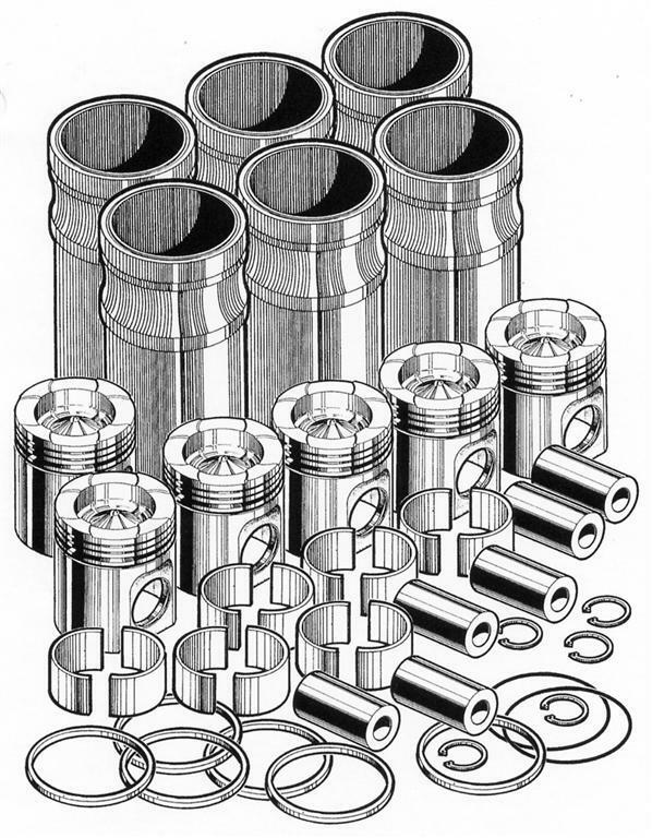 Out Of Frame Engine Overhaul Rebuild Kit For Caterpillar 3406e Pai