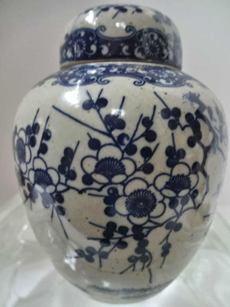 Beautiful Old Japanese Blue Amp White Porcelain Ginger Jar Ebay