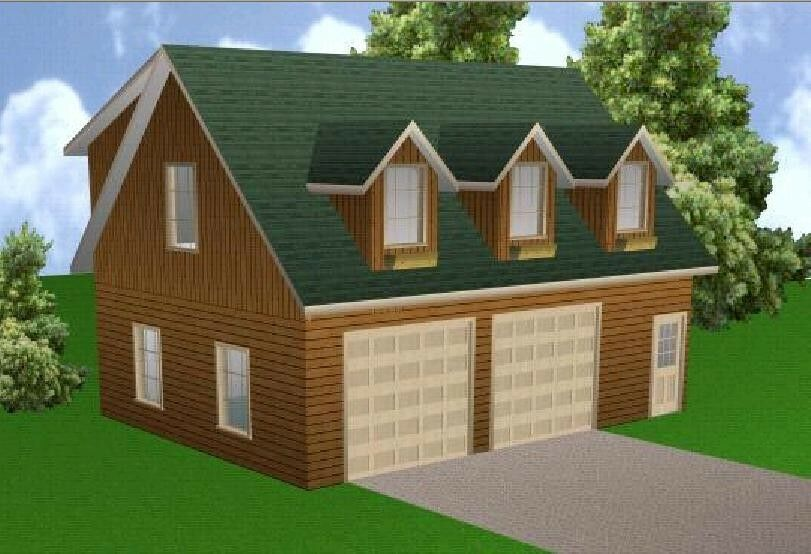 24x32 garage apartment plans package blueprints for Garage apartment packages