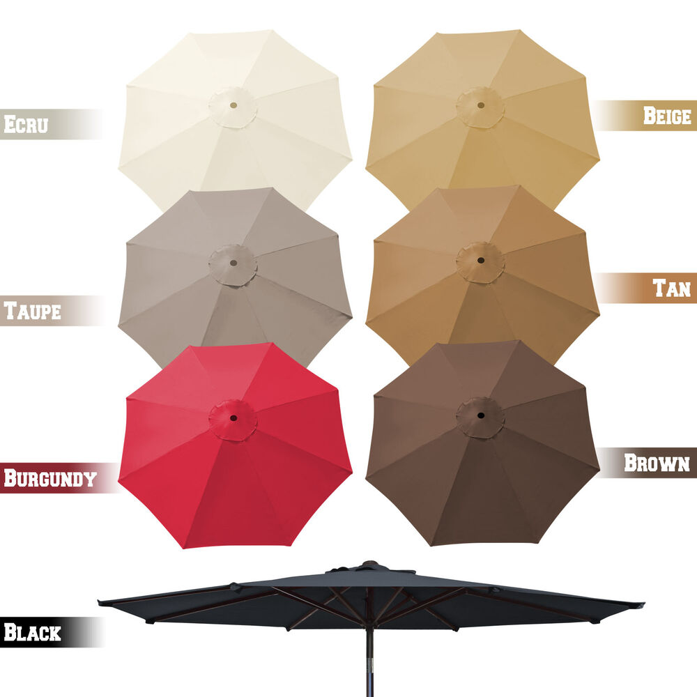 9ft 8 rib patio umbrella cover canopy replacement parasol top cover outdoor ebay. Black Bedroom Furniture Sets. Home Design Ideas