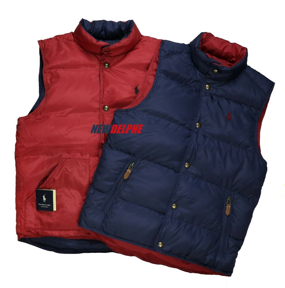Nwt Polo Ralph Lauren Men S Pony Reversible Puffer Down Vest Jacket Msrp 168 00 Ebay