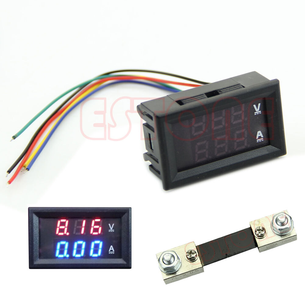 dual led digital voltmeter ammeter amp volt meter. Black Bedroom Furniture Sets. Home Design Ideas