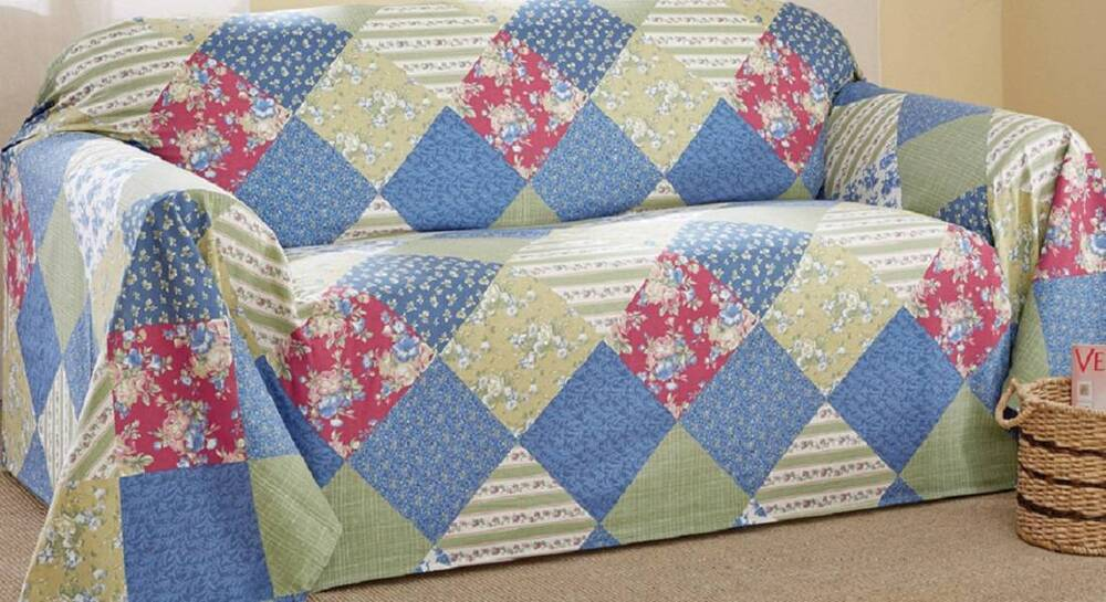 Country Style Calico Patchwork Chair Cover Furniture Throw